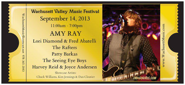 Amy Ray headlines the Wachusett Valley Music Festival in Lancaster, MA on Saturday, September 14, 2013.