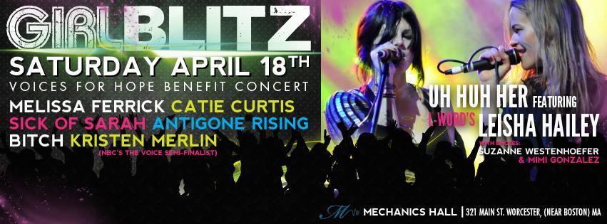 GirlBlitz at Mechanics Hall, Worcester on Saturday, April 18, 2015