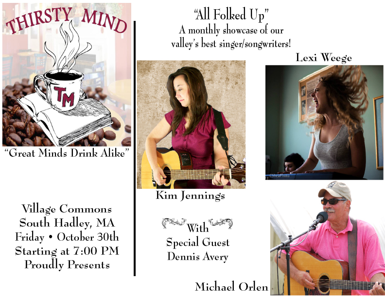 Thirsty Mind Cafe, South Hadley, MA - October 30, 2015
