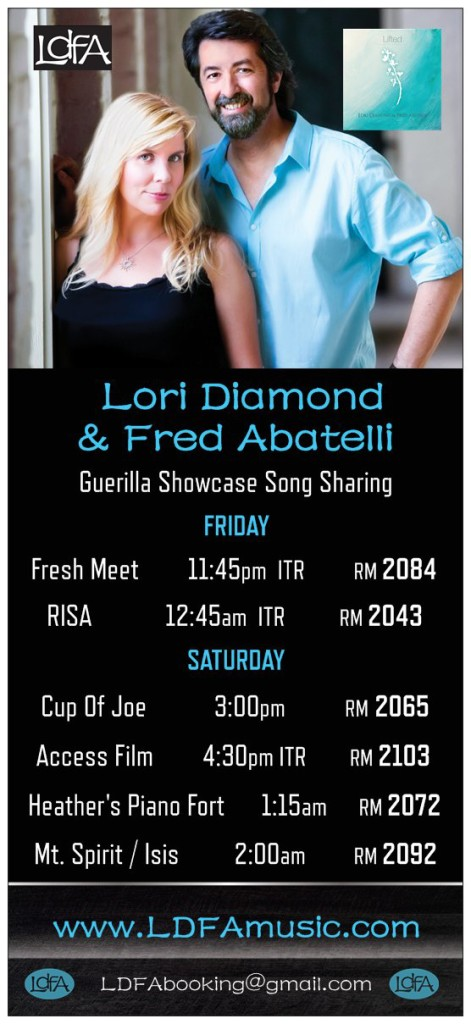 Lori Diamond & Fred Abatelli NERFA 2016 Schedule